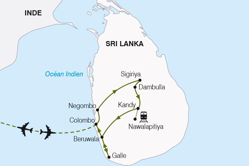 carte Sri Lanka l ile aux epices SH22_388 821569