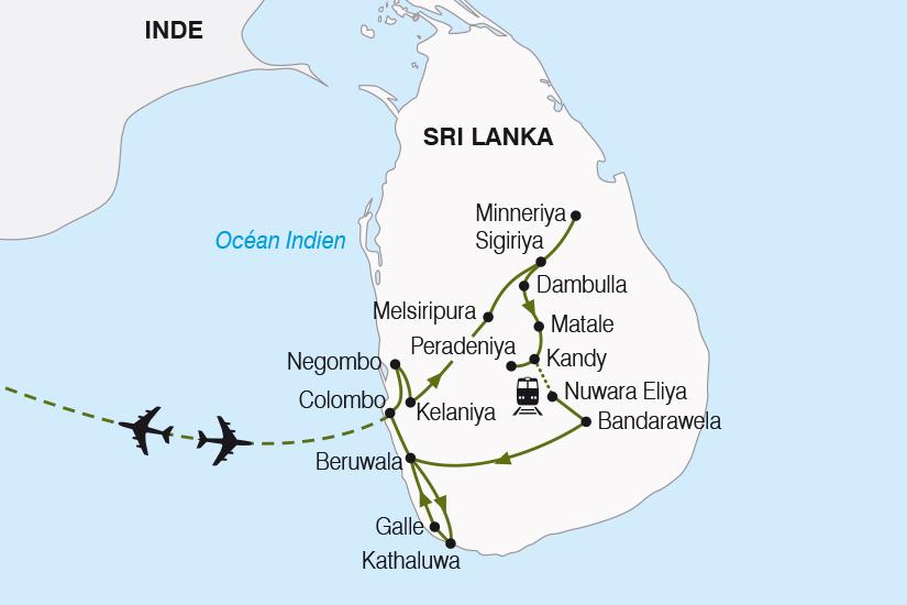 carte Sri Lanka l ile aux joyaux SH19 20_319 478507