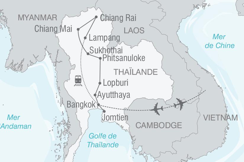 carte Thailande Panoramas de Thailande et Golfe du Siam nt 2019_293 382481