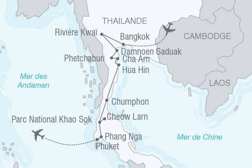 carte Thailande Phuket et les Incontournables de la Thailande du Sud NT19 20_314 600594