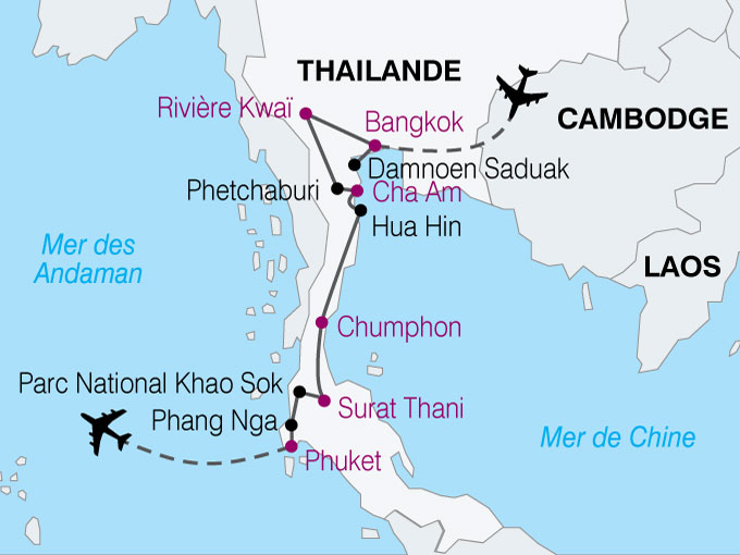 carte Thailande Sud Phuket  nthiver 753413