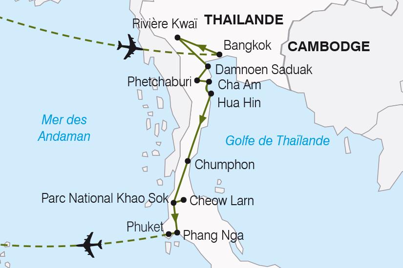 carte Thailande Thailande du Sud et Phuket SH19 20_319 871880