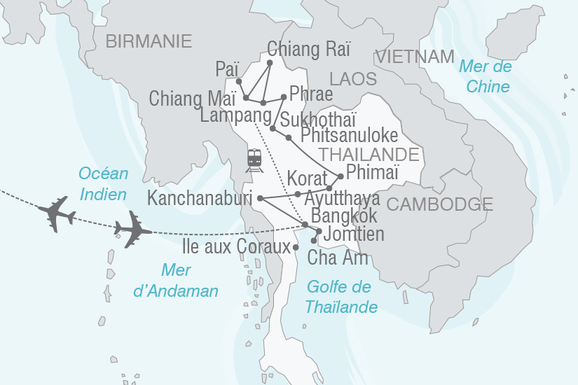 carte Thailande le pays du sourire NT20_341 176983
