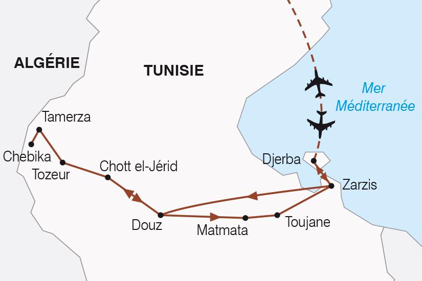 carte Tunisie Balade Tunisienne SH19 20_319 261601