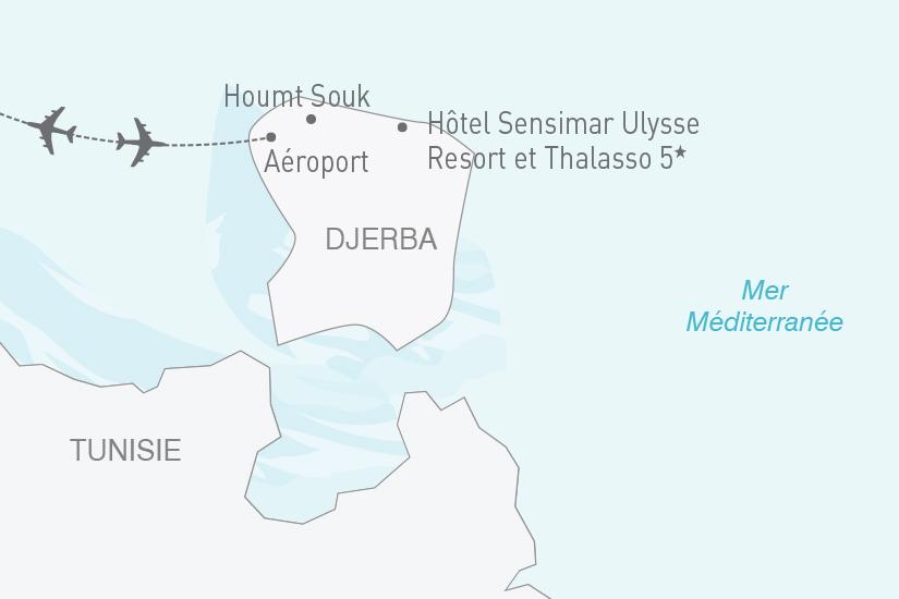 carte Tunisie Djerba Hotel Sensimar Ulysse Resort et Thalasso 5 NT19 20_314 883633