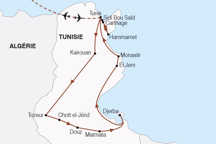 carte Tunisie L Essentiel de la Tunisie SH20_339 371009