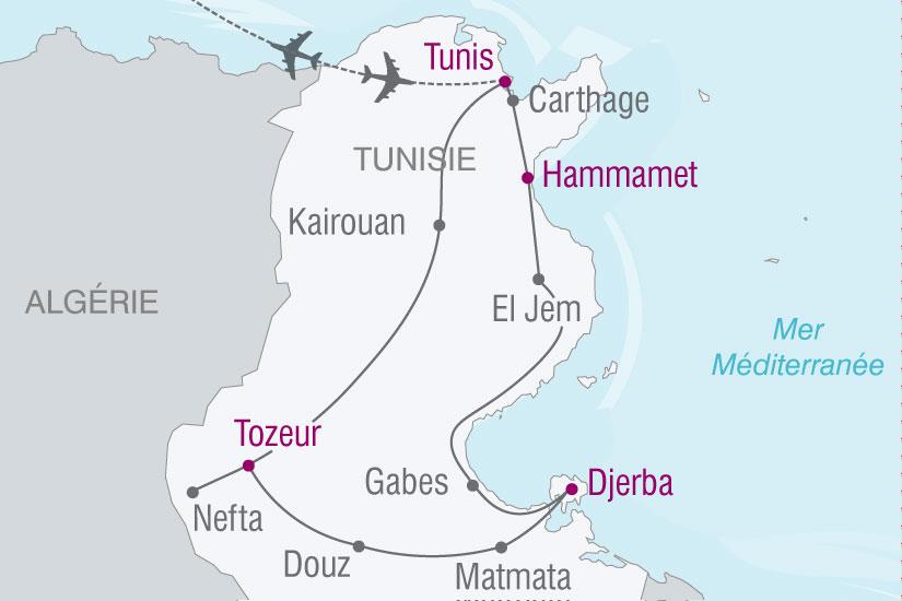 carte Tunisie balade tunisienne 738517