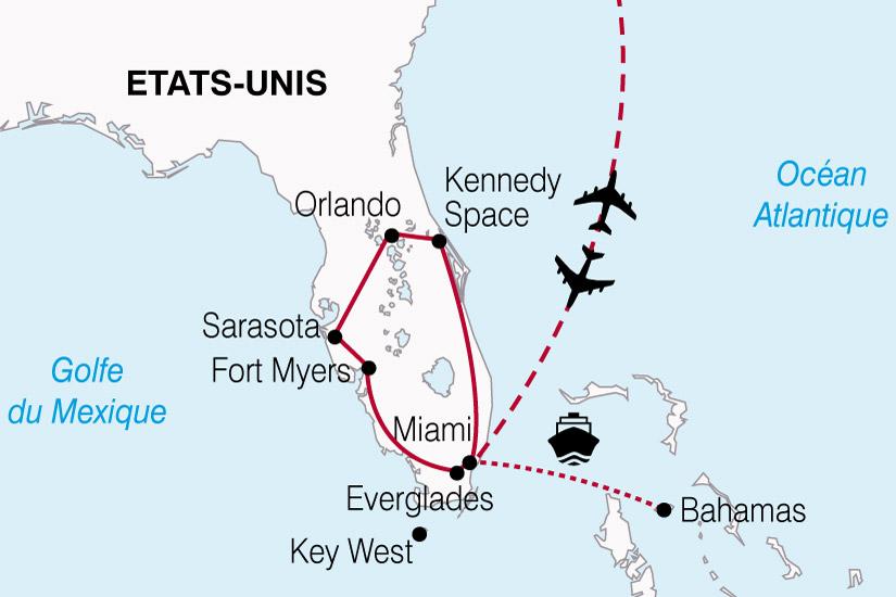carte USA Floride Bahamas 278642