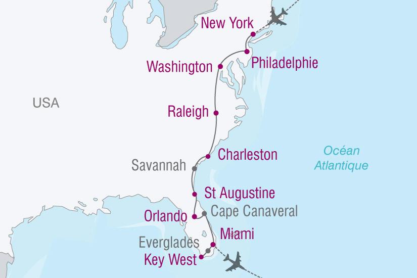 carte USA Floride New York 842717