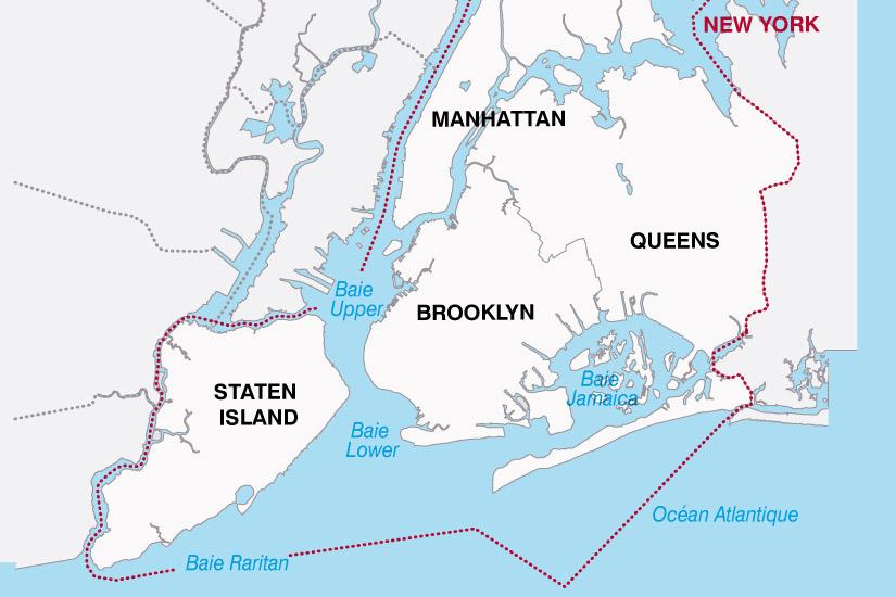 carte USA New York 297294