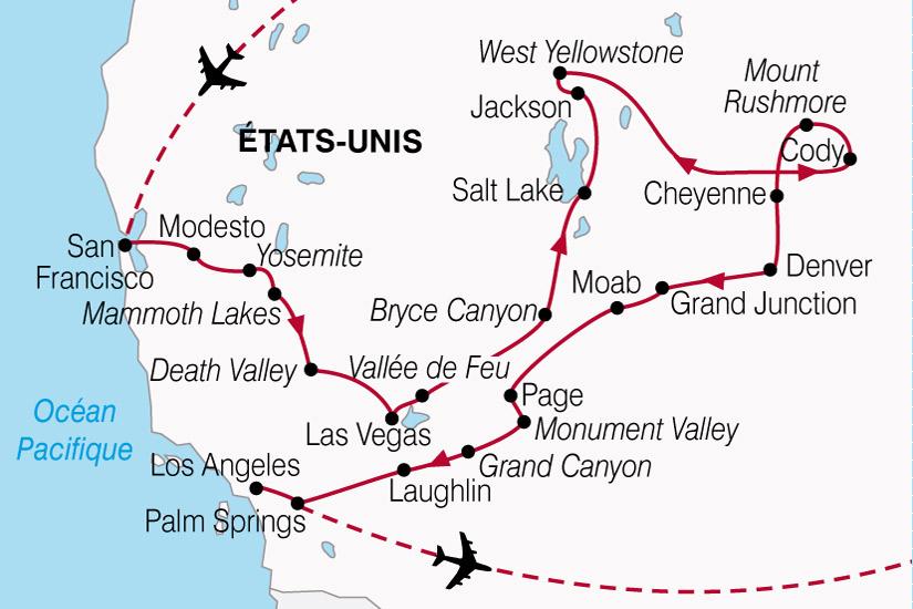 carte USA Splendeurs Ouest Americain 743894