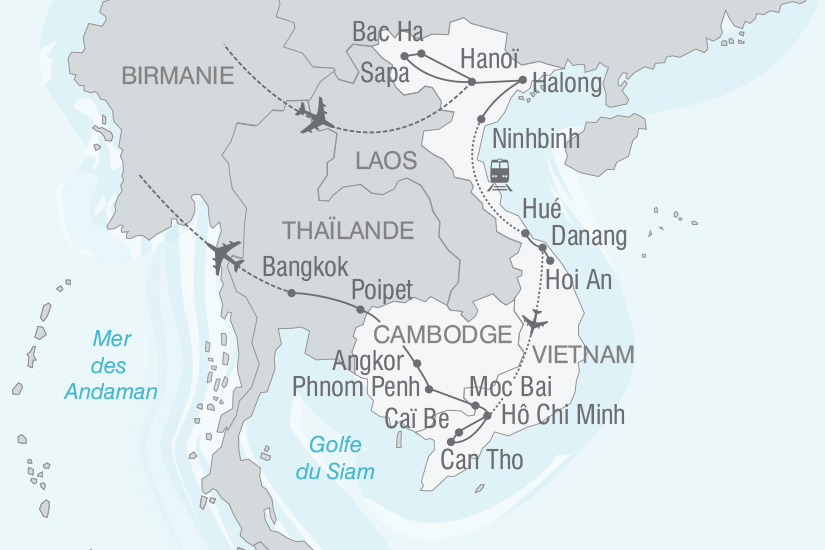 carte Vietnam Cambodge A la rencontre des Minorites Ethniques nt 2018_261 457710