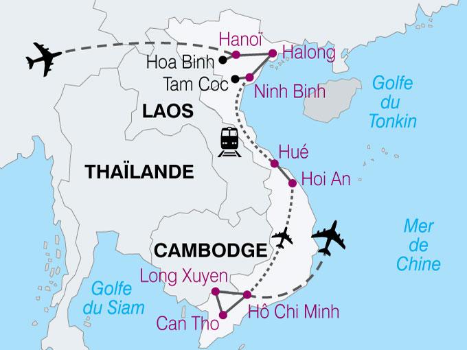 carte Vietnam Delta Du Mekong Baie Halong  nthiver 459116