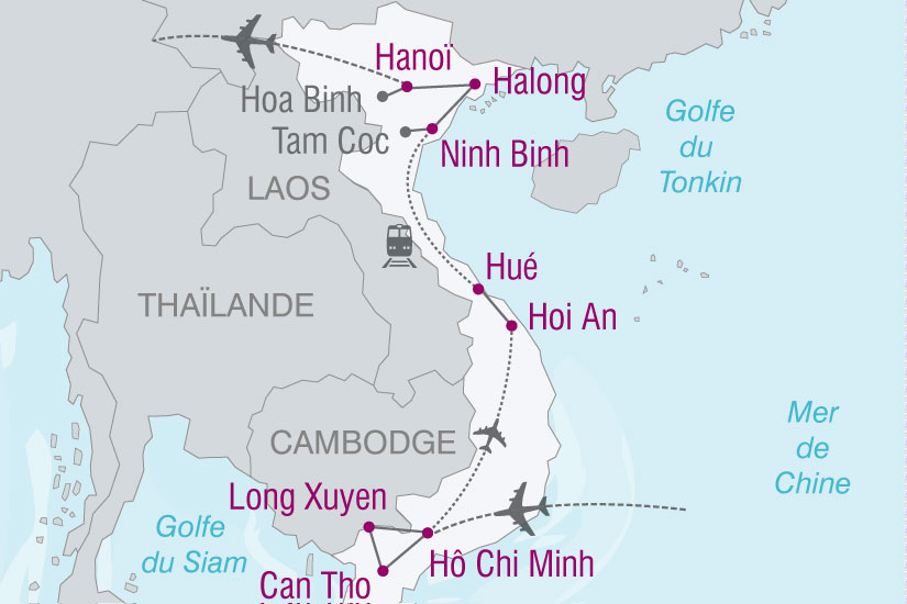 carte Vietnam Delta Du Mekong Baie Halong 892430