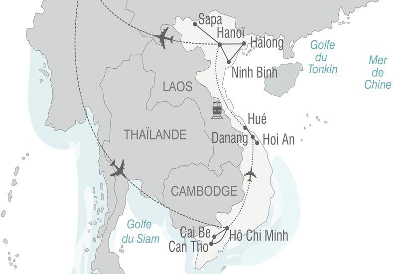 carte vietnam deltadumekong baiehalong 196640