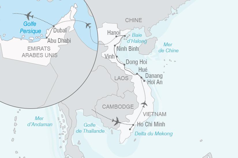 carte Vietnam Emirats Arabes Unis Vietnam et escapade au pays de l or noir NT20_341 414071
