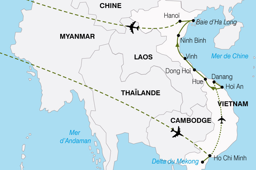 carte Vietnam Escapade 893119