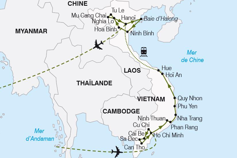 carte Vietnam Le Grand tour du Vietnam SH20_339 304712