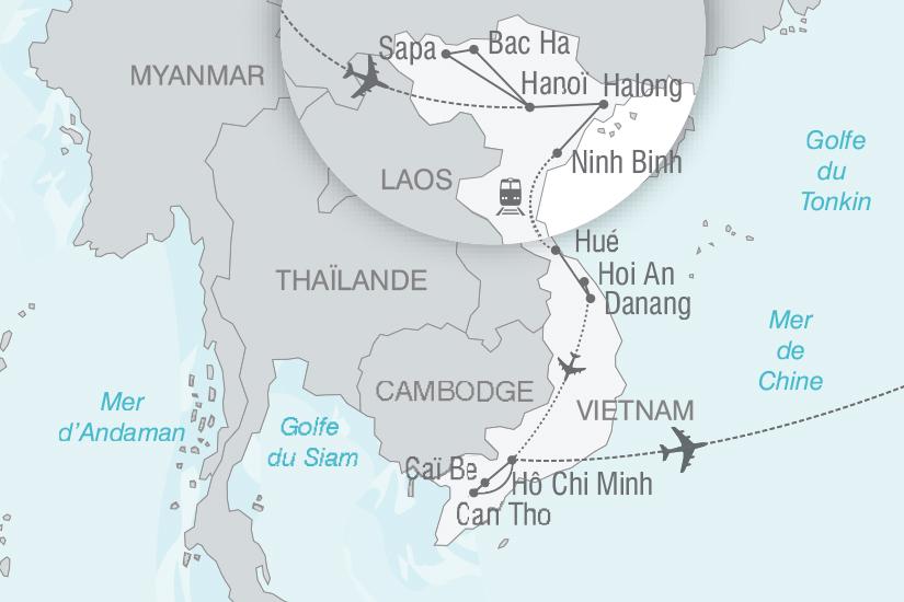 carte Vietnam Le Vietnam entre rizieres et montagnes nt 2018_261 157555