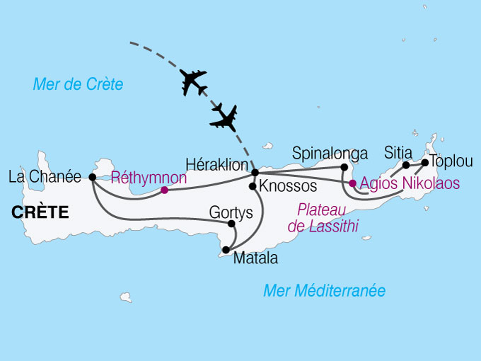 Circuit grèce, la crète d'est en ouest 8 jours   Nationaltours groupes