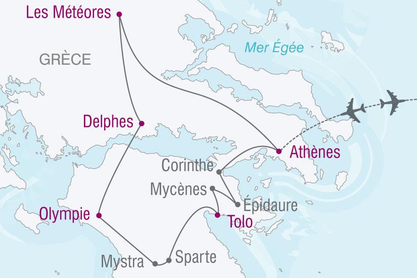 carte grece decouverte grece classique 737948