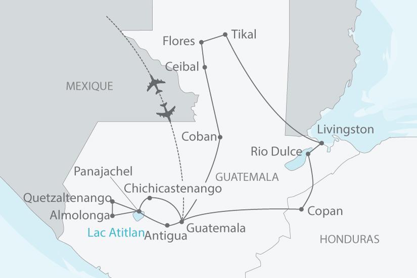carte guatemala honduras splendeurs nt 2018_238 217147