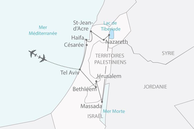 Carte Jordanie Israel.Circuit Israel Israel A La Rencontre De L Orient Et De L