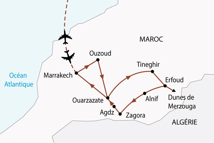 carte maroc desert oasis 4x4 sh 2018_236 263458