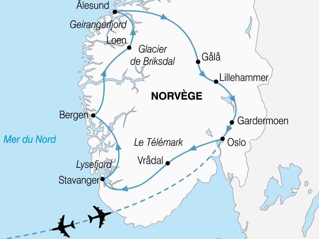 carte norvege grand tour fjords 371294
