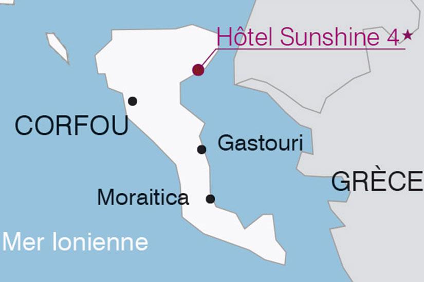 carte ntg grece corfou hotel club sunshine 842688