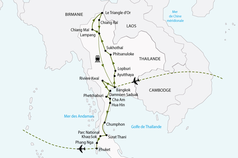 carte thailande nord sud sh 2018_236 249273