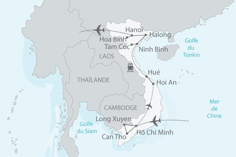 carte vietnam delta mekong baie halong nt 2018_238 366452