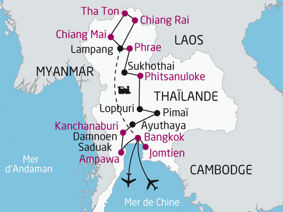 carte nationaltours  Thailande Riviere kwai 390355