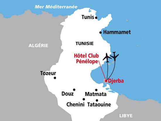 carte nationaltours  Tunisie Hotel Penelope 290159