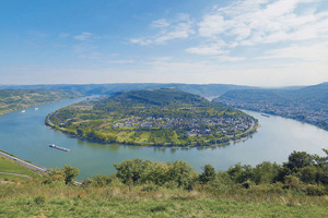 allemagne boppard rhin panorama  it