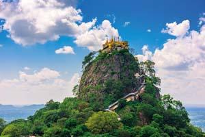 circuit birmanie taung kalat sommet mont popa myanmar volcan eteint 01 fo_134074466