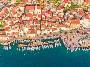 vignette Croatie sibenik vue aerienne