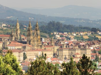 vignette Espagne saint jacques de compostelle vue ensemble