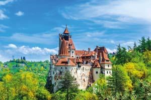 vignette Roumanie transylvanie brasov vue panoramique chateau dracula bran automne 91 fo_120850805