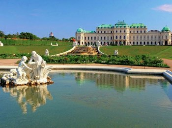 vignette autriche vienne chateau belvedere