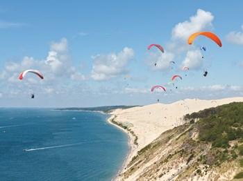 vignette france arcachon dune du pilat parachute