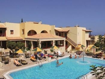 vignette grece crete stalis hotel cactus beach piscine