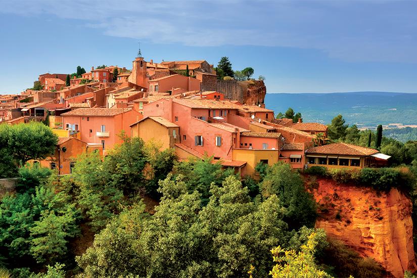 (image) image Roussillon village coucher de soleil vue Provence France 24 as_45106719