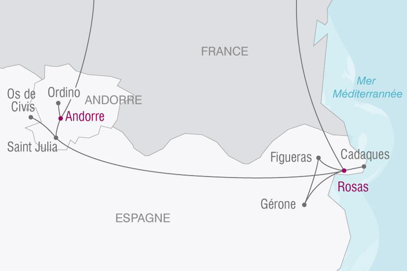 (map) carte Andorre Rosas 113650