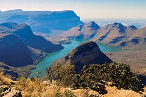 afrique du sud vue panoramique sur le blyde river canyon  fo