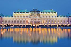autriche vienne palais belvedere avec marche de noel  fo