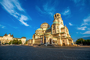 (vignette) Vignette Bulgarie Sofia Cathedrale Saint Alexandre Nevski  fo