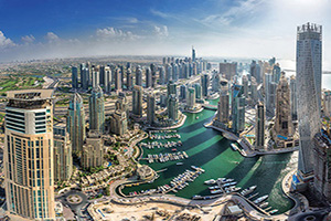 emirats arabes unis dubai vue aerienne  fo