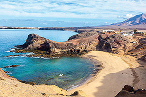 espagne iles canaries lanzarote playa de papagayo  it