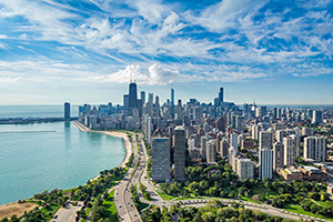 etats unis chicago horizon urbain  it